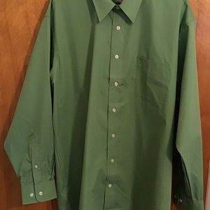 Stafford Fitted Button-down Shirt Sz 17 1/2 -34/35